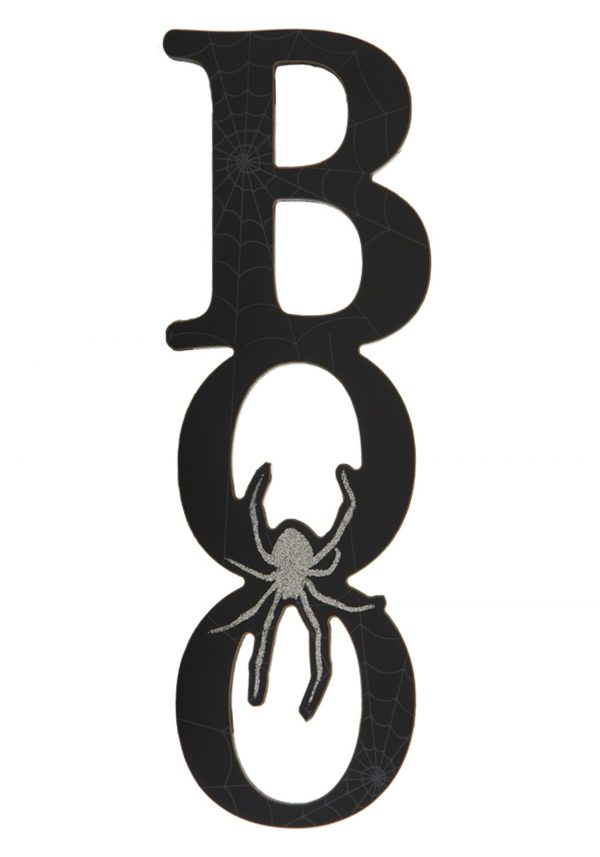 12″ Black Boo Cutout Wall Plaque