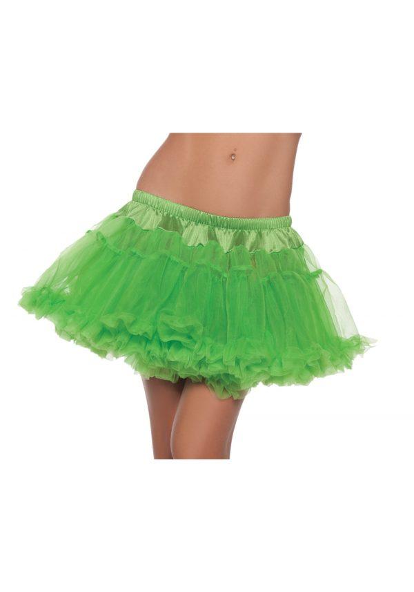 12″ Green 2-Layer Petticoat