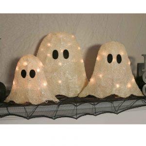 "12/16/19"" Set of Three LED Ghosts"