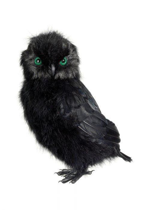 14 Inch Black Owl