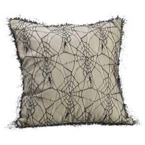 """16"""" Spider Web Linen Pillow"""