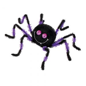 """20"""" Purple and Black Posable Friendly Spider"""