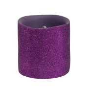 3 Inch Purple Glitter LED Candle