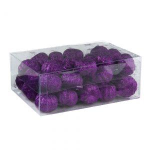 36 Piece Purple Glitter Mini Pumpkins