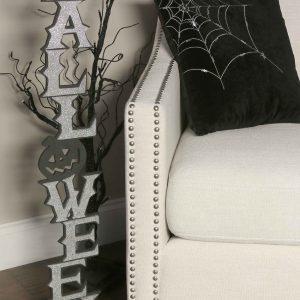 """36"""" Silver Vertical Halloween Cutout"""
