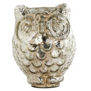 6 Inch Mercury Owl with Large Eyes