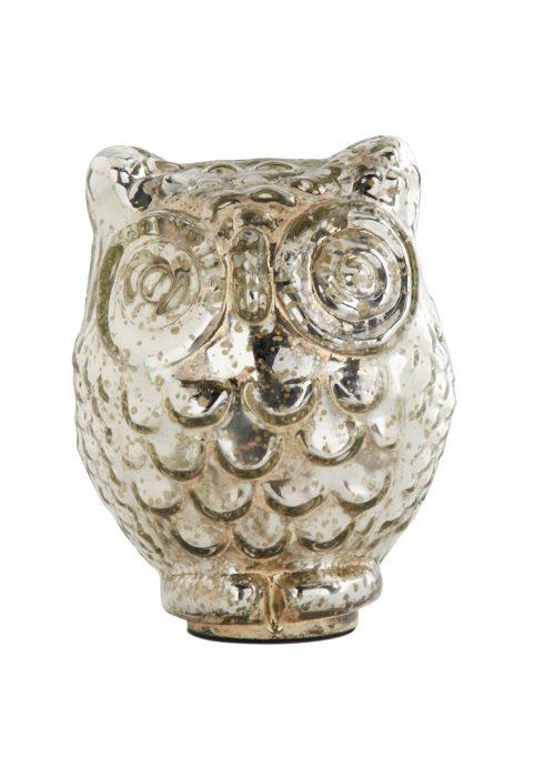 6 Inch Mercury Owl with Large Eyes