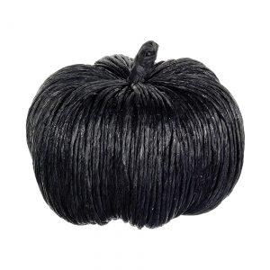 6.5 Inch Black Glittered Pumpkin