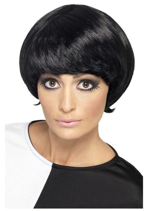60s Black Psychedelic Wig