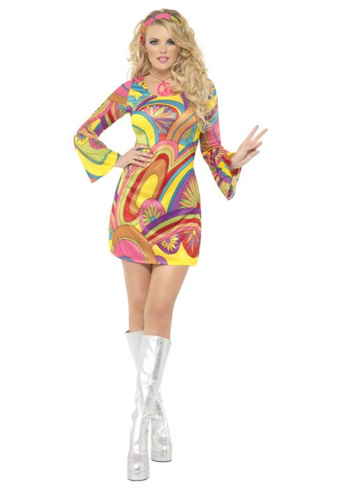 60s Sexy Flower Power Costume