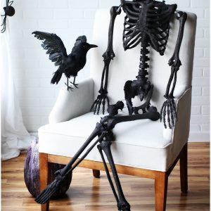 """63"""" Black Glitter Skeleton"""