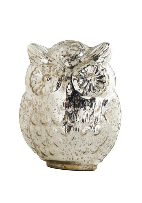 7.5 Inch Mercury Owl w/ Large Eyes