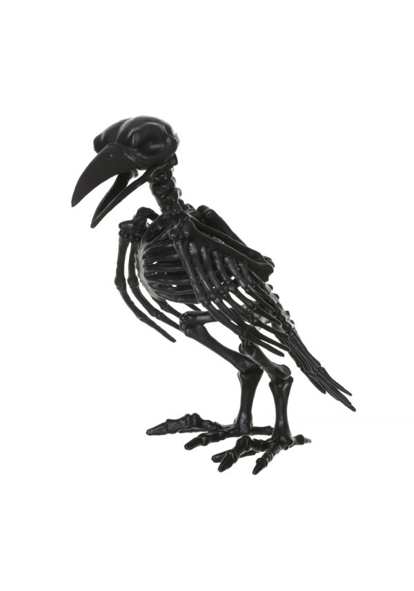8″ Black Skeleton Crow