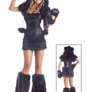 8 pc Deluxe Black Bear Costume
