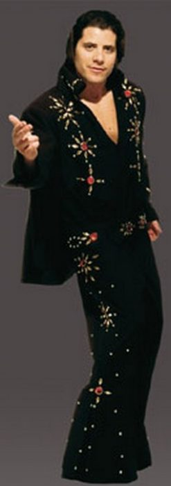Adult 50's Starburst Jumpsuit Costume - Black
