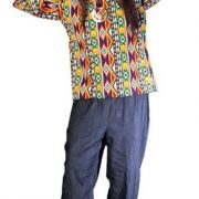 Adult 60's Male Hippie Costume (Multi Pattern)