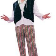 Adult 60's Male Hippie Costume (Stripes)