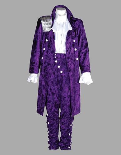 Adult 80s Rock Star Costume ? Purple