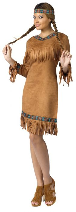 Adult American Indian Woman Costume