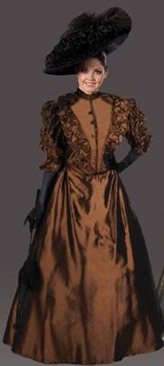 """Adult """"Annie"""" Victorian Dress – Chocolate Brown"""