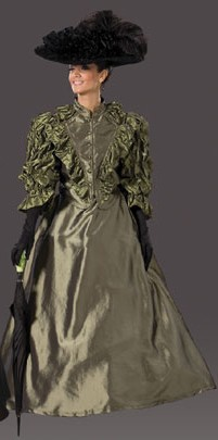 "Adult ""Annie"" Victorian Dress - Olive"