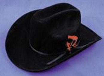 Adult Black Felt Cowboy Hat
