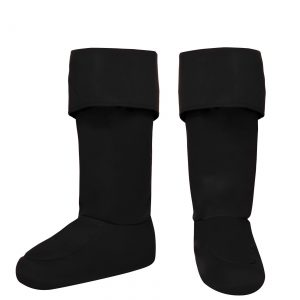 Adult Black Superhero Boot Covers