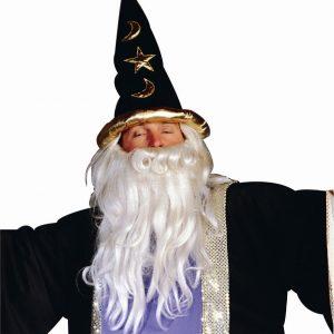 Adult Black Velvet Wizard Hat