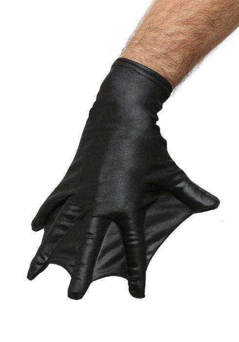 Adult Black Webbed Gloves