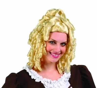 Adult Blond Colonial Lady Wig