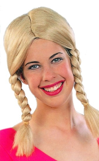 Adult Blond Pigtail Wig