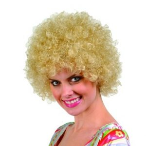 Adult Blonde Afro Wig