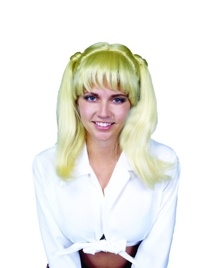 Adult Blonde School Girl Wig
