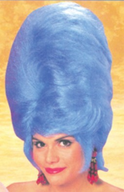 Adult Blue Beehive Wig