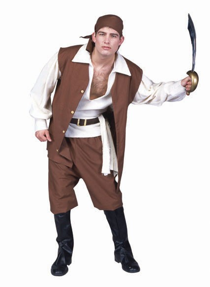 Adult Brown Pirate Costume