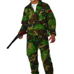 Adult Camo Jungle Commando Costume