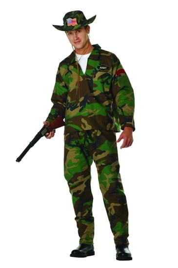 Adult Camo Jungle Commando Costume
