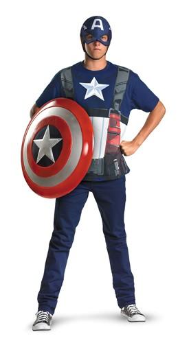 Adult Captain America Costume - T Shirt