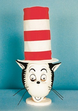 Adult Cat in the Hat Mask with Hat