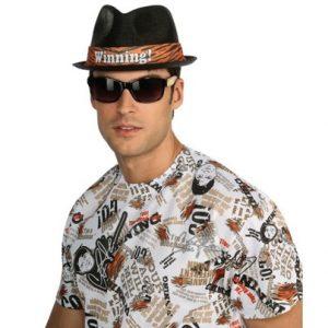 Adult Charlie Sheen Hat - Black