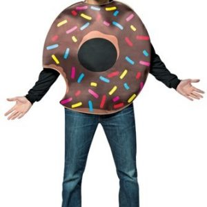 Adult Chocolate Donut Costume with Bite