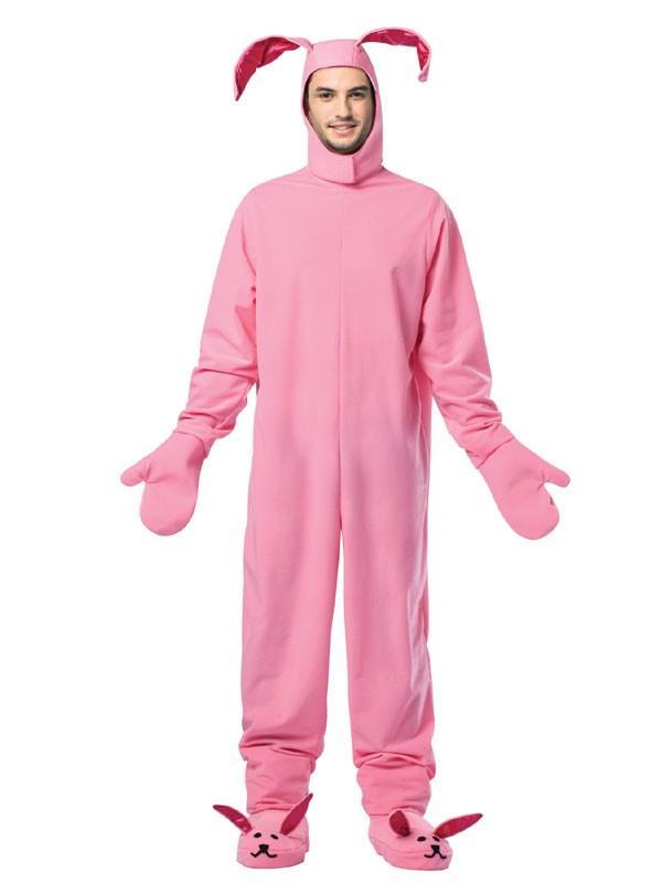 Adult Christmas Pink Bunny Costume