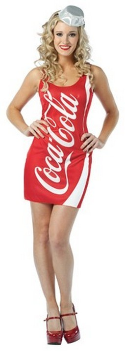 Adult Coca Cola Dress Costume