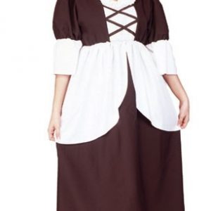 Adult Colonial Peasant Costume (Plus Size)