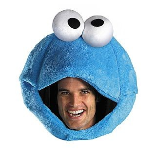 Adult Cookie Monster Headpiece Costume