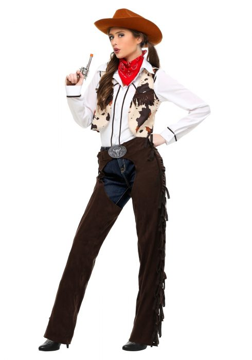 Adult Cowgirl Chaps Costume