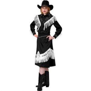 Adult Cowgirl Costume Black