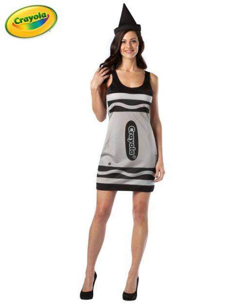Adult Crayola Crayon Costume Dress - Black
