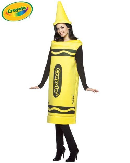 Adult Crayola Crayon Costume - Yellow