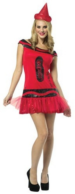 Adult Crayola  Dress - Red